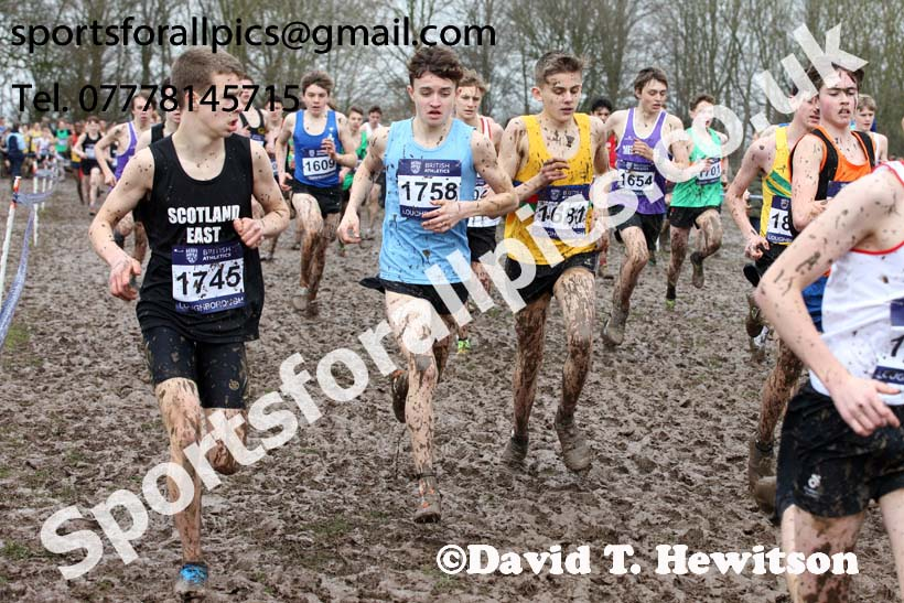 Boys under-15s 2018 British Inter Counties Cross Country Champs., Prestwold Hall, Loughborough. Photo: David T. Hewitson/Sports for All Pics