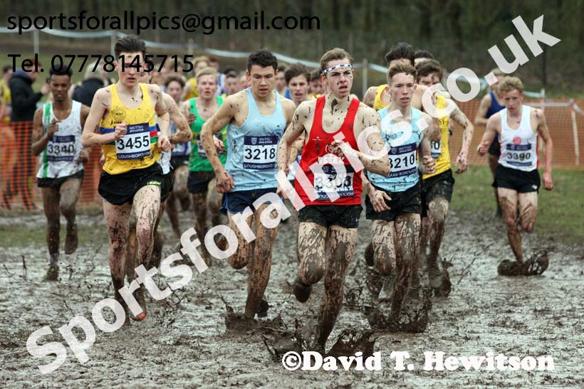 Mens under-17s 2018 British Inter Counties Cross Country Champs., Prestwold Hall, Loughborough. Photo: David T. Hewitson/Sports for All Pics