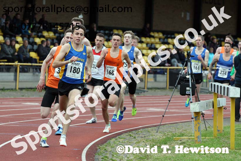 Jimmy Hedley 800 metres Challenge Cup, North Eastern Grand Prix, Monkton Stadium, Jarrow. Photo: David T. Hewitson/Sports for All Pics