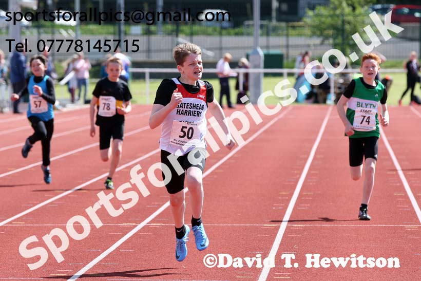 Boys under-13s 200 metres, North Eastern Track and Fields Champs., Middlesbrough. Photo: David T. Hewitson/Sports for All Pics