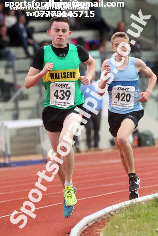 Mens under-17 3000 metres, North Eastern Track and Fields Champs., Middlesbrough. Photo: David T. Hewitson/Sports for All Pics