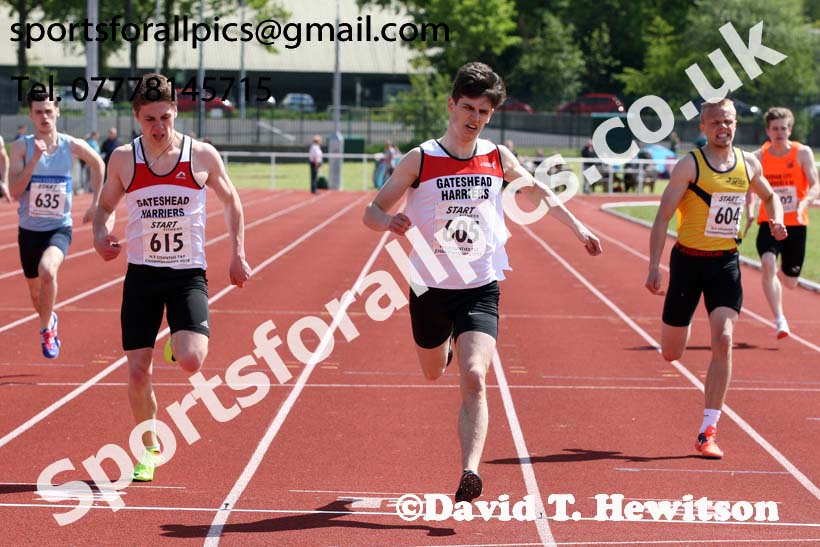 Mens under-20s 200 metres, North Eastern Track and Fields Champs., Middlesbrough. Photo: David T. Hewitson/Sports for All Pics