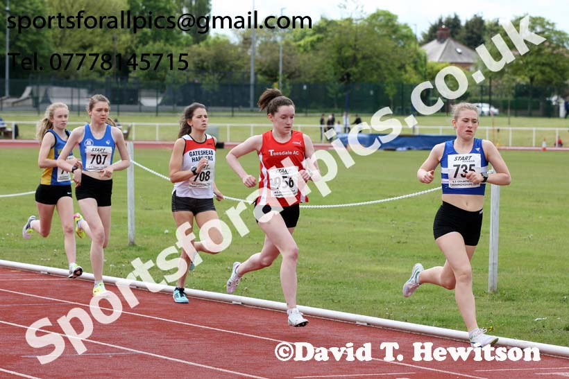 Senior and under-20s womens 1500 metres, North Eastern Track and Fields Champs., Middlesbrough. Photo: David T. Hewitson/Sports for All Pics