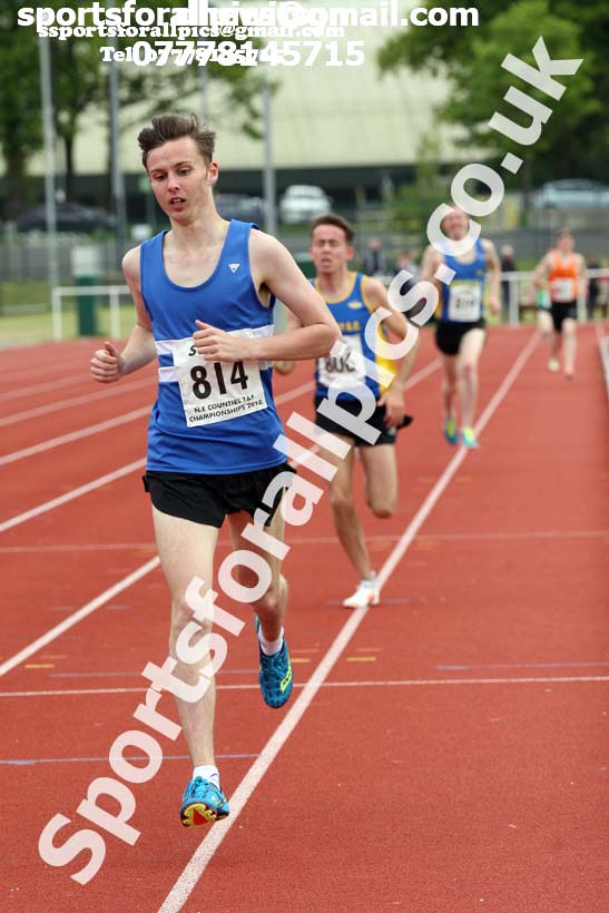Senior mens 1500 metres North Eastern Track and Fields Champs., Middlesbrough. Photo: David T. Hewitson/Sports for All Pics