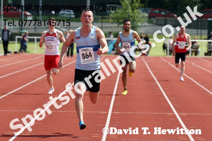 Senior mens 200 metres, North Eastern Track and Fields Champs., Middlesbrough. Photo: David T. Hewitson/Sports for All Pics