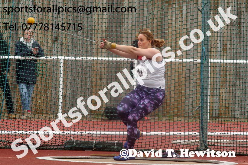 Senior womens hammer, North Eastern Track and Fields Champs., Middlesbrough. Photo: David T. Hewitson/Sports for All Pics