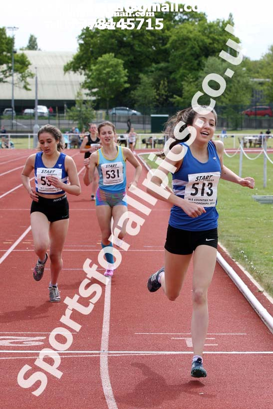 Womens under-17s 800 metres, North Eastern Track and Fields Champs., Middlesbrough. Photo: David T. Hewitson/Sports for All Pics