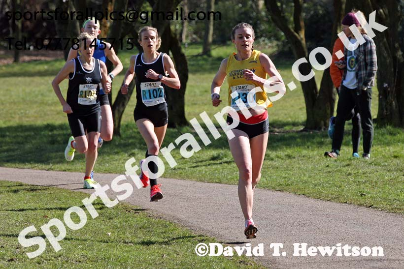 Senior womens Northern 6 Stage Road Relay Champs., Birkenhead Park. Photo: David T. Hewitson/Sports for All Pics