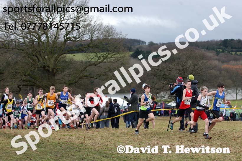 Boys under-13s, 2018 Northern Cross Country Champs., Harewood House, Leeds. Photo: David T. Hewitson/Sports for All Pics