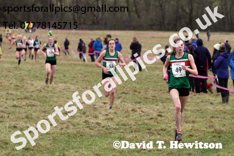 Junior womens 2018 Northern Cross Country Champs., Harewood House, Leeds. Photo: David T. Hewitson/Sports for All Pics