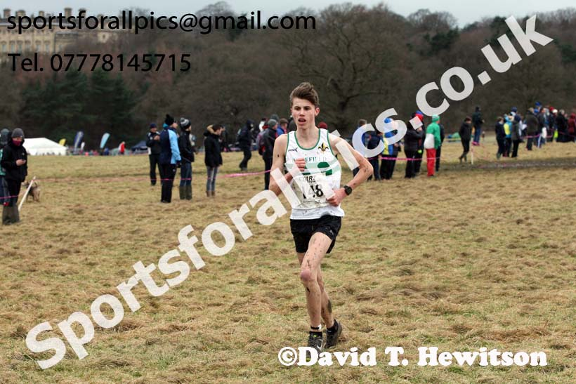 Mens under-17s, 2018 Northern Cross Country Champs., Harewood House, Leeds. Photo: David T. Hewitson/Sports for All Pics