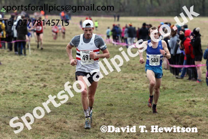 Senior men, 2018 Northern Cross Country Champs., Harewood House, Leeds. Photo: David T. Hewitson/Sports for All Pics