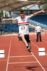 Mens under-20s triple jump, Northern Senior and Under-20s Champs., Sports City, Manchester. Photo: David T. Hewitson/Sports for All Pics