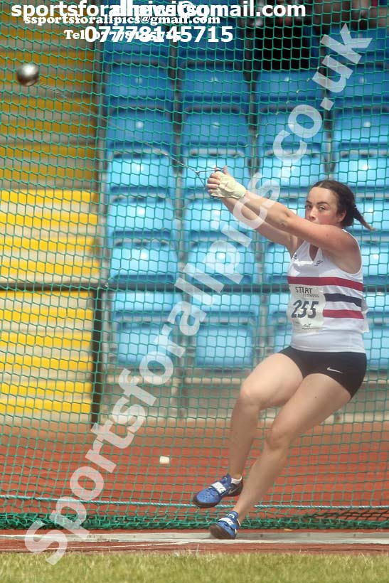 Womens under-20s hammer, Northern Senior and Under-20s Champs., Sports City, Manchester. Photo: David T. Hewitson/Sports for All Pics