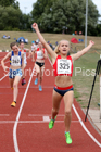 Girls under-15s 800 metres, 2018 Northern Under-17s/U-15s/U-13s Champs., Wavertree Athletics Centre, Liverpool. Photo: David T. Hewitson/Sports for All Pics