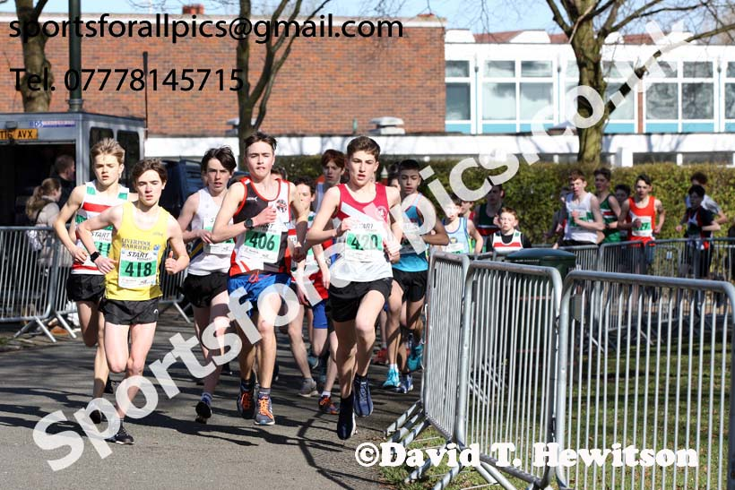 Boys under-15s Northern Athletics 5k Champs., Birkenhead Park. Photo: David T. Hewitson/Sports for All Pics