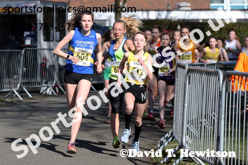 Girls under-15s Northern Athletics 5k Champs., Birkenhead Park. Photo: David T. Hewitson/Sports for All Pics