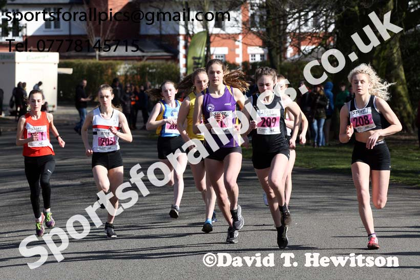 Womens under-17s Northern Athletics 5k Champs., Birkenhead Park. Photo: David T. Hewitson/Sports for All Pics