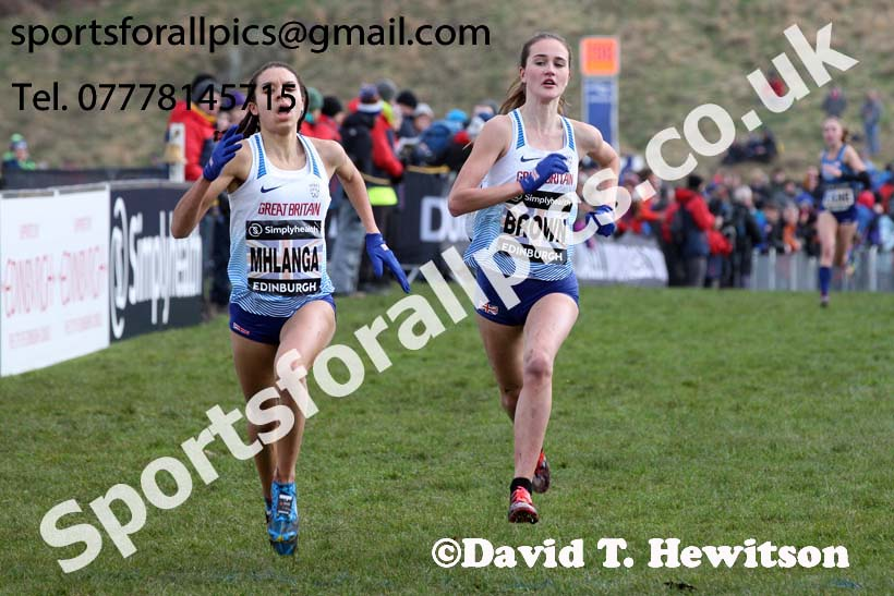 Simplyhealth Great Edinburgh XCountry junior women, 2018 Simplyhealth Great Edinburgh International XCountry. Photo: David T. Hewitson/Sports for All Pics