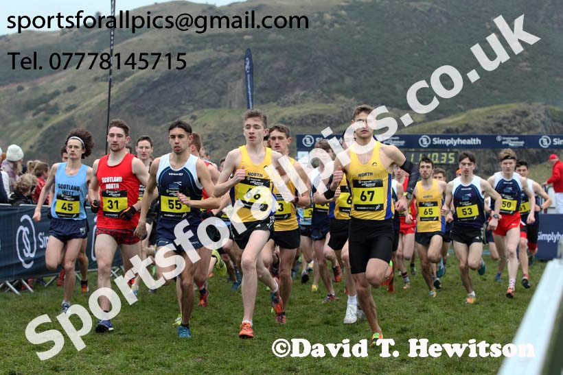 Inter District senior men and juniors, 2018 Simplyhealth Great Edinburgh International XCountry. Photo: David T. Hewitson/Sports for All Pics