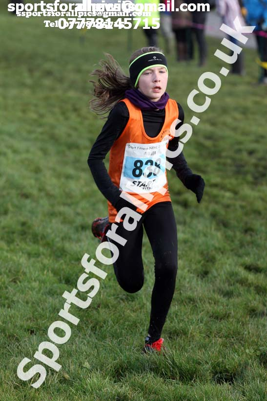 Girls under-13s Start Fitness NEHL, Herrington Country Park, near Sunderland. Photo:  David T. Hewitson/Sports for All Pics