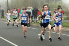 Boys and girls under-13s road race, 2019 Elswick Harirers Good Friday Road Relay, Newburn, Newcastle. Photo:  David T. Hewitson/Sports for All Pics