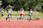 Mens 300 metres hurdles, 2019 NEMA Track and Field Champs, Monkton. Photo:  David T. Hewitson/Sports for All Picss