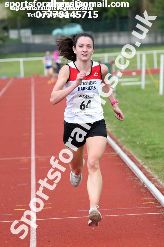 Senior womens 5000 metres, 2019 North Eastern Track and Field Champs., Middlesbrough. Photo:  David T. Hewitson/Sports for All Pics