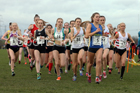 Womens under-20s Northern Cross Country Champs., Pontefract Racecourse. Photo:  David T. Hewitson/Sports for All Pics