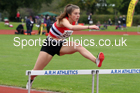 300 metres hurdles, NECAA Open Meeting, Morpeth, Sunday, September 27th. David T. Hewitson/Sports for All Pics