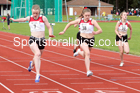 100 metres 09, NECAA Open Meeting, Morpeth, Sunday, March 23rd. David T. Hewitson/Sports for All Pics