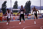 Linford Christie wins the UK Champs, 1990