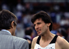 Jim Rossenthile interviews Seb Coe at the 189 AAA Champs, Birmingham