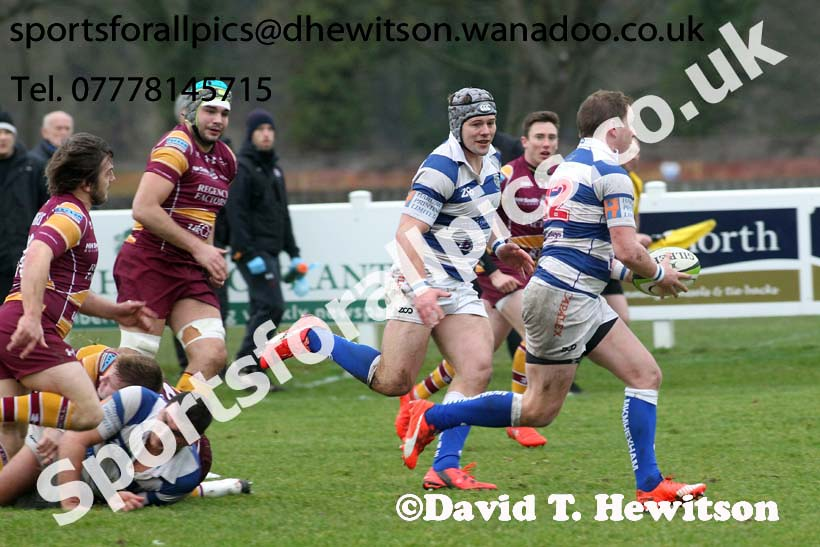Tynedale v Sedgley Park, Tynedale Park, Corbridge, Northumberland. Photo: David T. Hewitson/Sports for All Pics