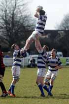 Tynedale's wins the lineout against Blackheath, National League Division 1, Tynedale Park, Corbridge, Northumberland.
